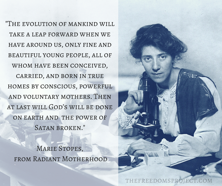 Marie Stopes, Eugenicist
