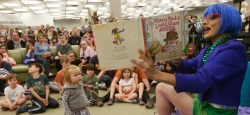 Drag queen reads the storybook 'Mary Had A Little Glam' to children at the South Hill Public Library in Spokane, Washington, on Saturday, June 15, 2019.